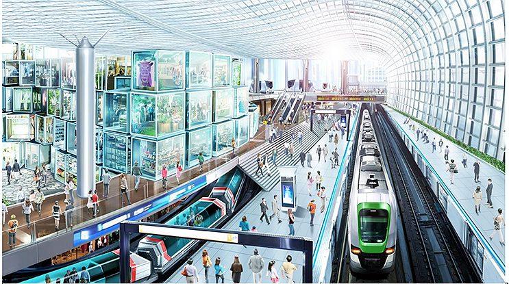 大阪の近未来 大阪メトロ 夢洲駅のイメージ