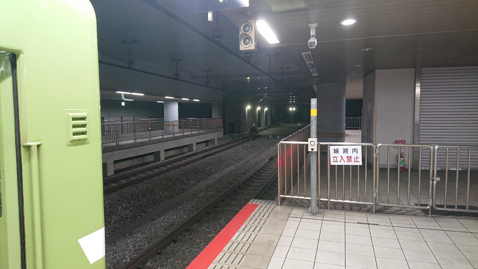 1996年に地下化されたJR難波駅