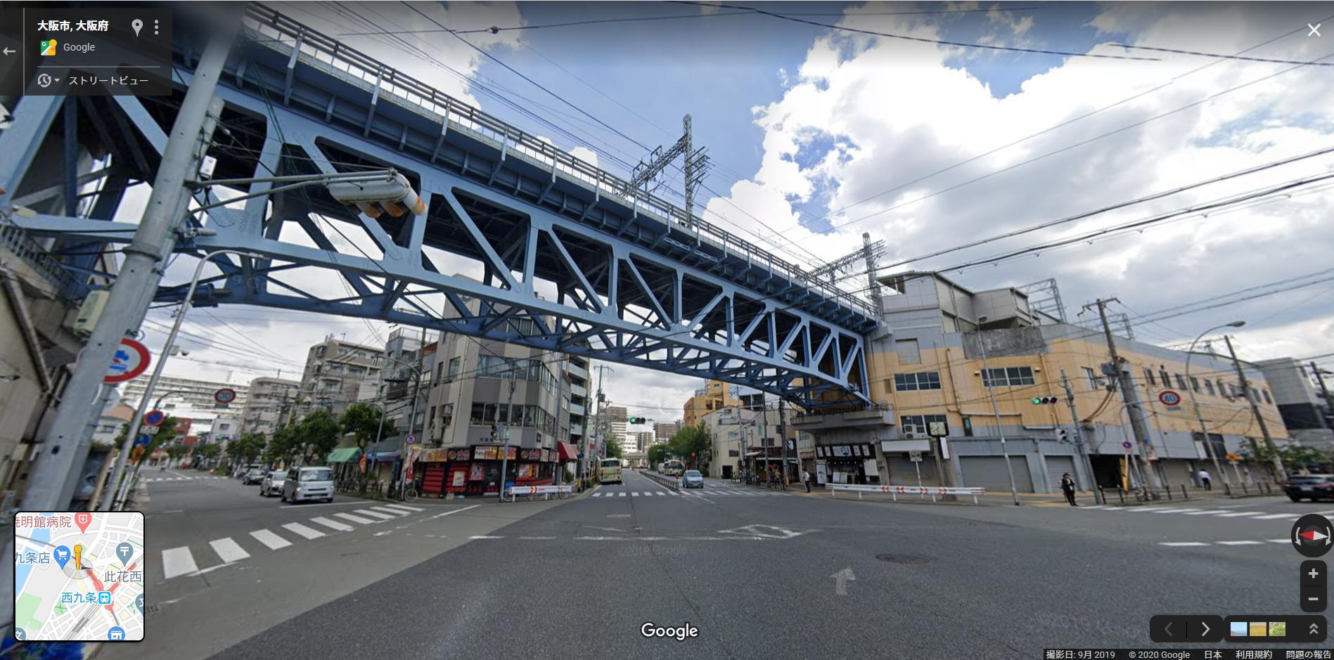 阪神西九条駅付近の高架