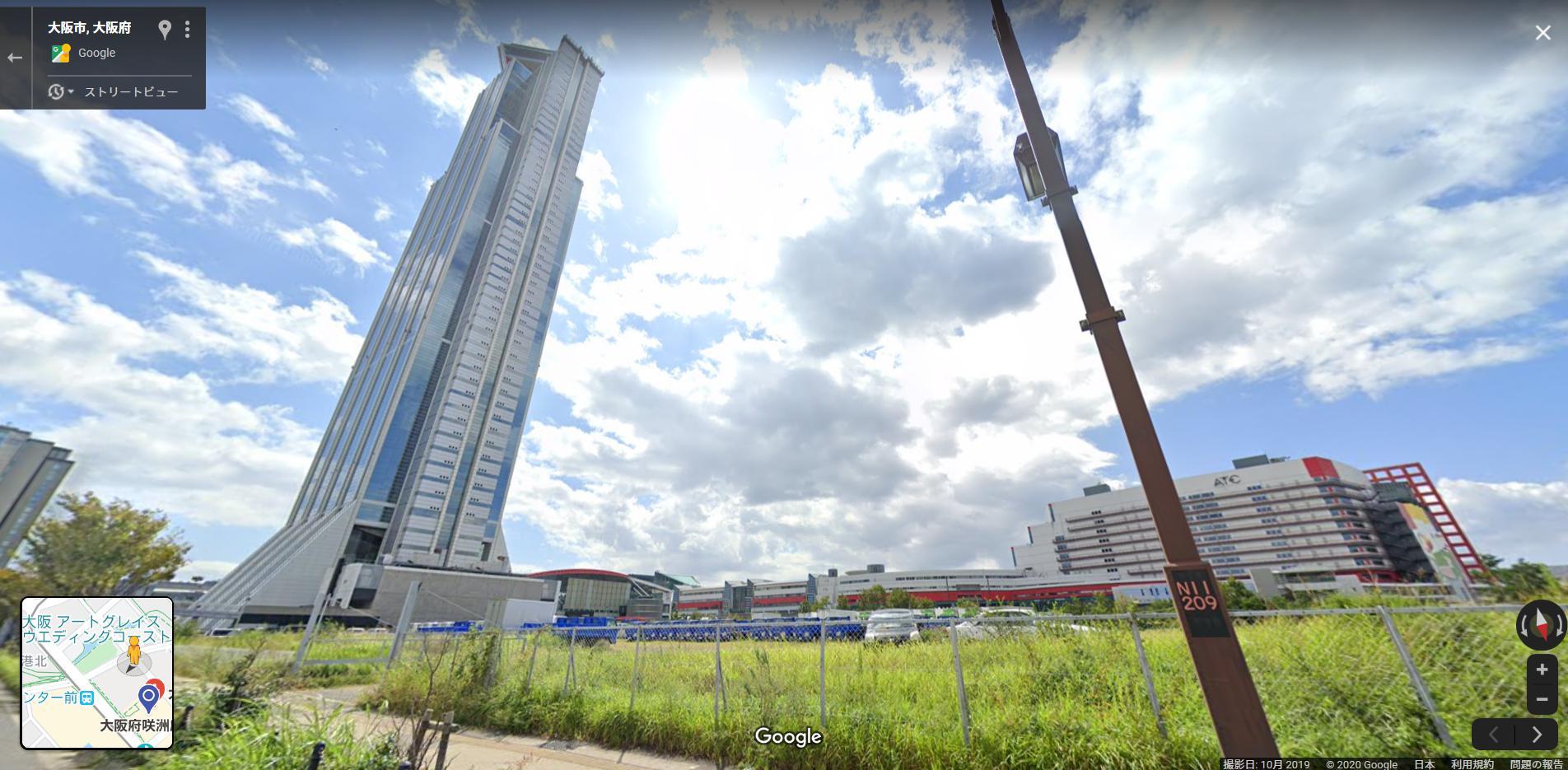 WTC(現・大阪府咲洲庁舎)の周りは空き地が多い