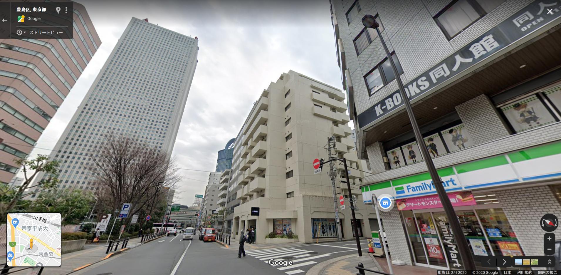 1990年まで高さ日本一だったサンシャイン60(240m)は成熟した街のランドマーク