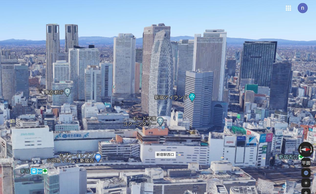 日本一の乗降客数を誇る新宿駅(353万人)と超高層ビル群
